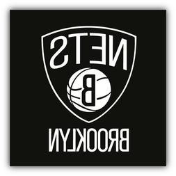 Brooklyn Nets NHL Combo Logo Car Bumper Sticker Decal - 3''