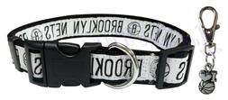 Brooklyn Nets Nylon Pet Collar; Large Fits Neck Size 18 In -