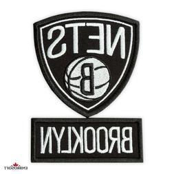 Brooklyn Nets Patch, 🏀NBA Sports Team Emblem, Embroidered