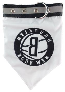 "Pets First Brooklyn Nets Pet Bandana Collar, Large Fits 18""-"
