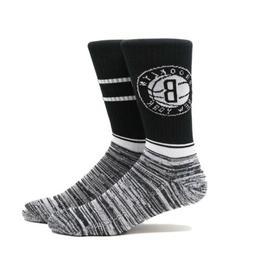 Brooklyn Nets Pkwy Socks New Large 6-12 Nba Basketball