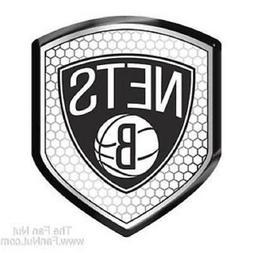 Brooklyn Nets Reflector Auto Decal  NBA Car Emblem Shield St
