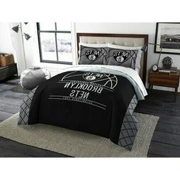 brooklyn nets reverse slam full queen comforter