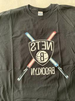 BROOKLYN NETS T SHIRT STAR WARS DAY SGA BLACK XL NBA BASKETB
