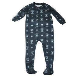 NBA Brooklyn Nets Toddler Footed Pajamas Bodysuit Zipper Sle