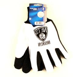 Brooklyn Nets Two-Tone Utility Grip Gloves NWT