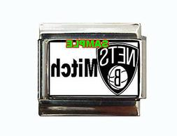 Brooklyn Nets w/any Name Custom Italian Charm! cool!