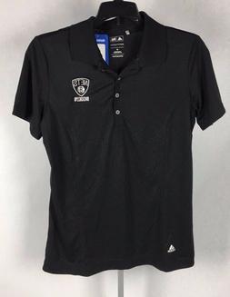 Brooklyn Nets Adidas Womens Shirt Puremotion Polo Black NBA