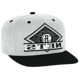 adidas BROOKLYN NEW YORK NETS NBA Basketball White Snapback