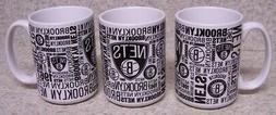 Coffee Mug Sports NBA Brooklyn Nets NEW 14 ounce cup with gi