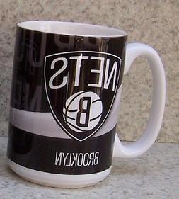 Coffee Mug Sports NBA Brooklyn Nets NEW 15 ounce cup with gi