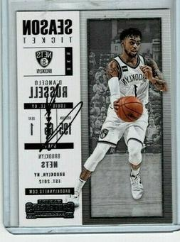 D'Angelo Russell Hand Signed Brooklyn Nets Basketball Card