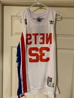 DR J - #32 Julius Erving NJ Nets Jersey - White Adidas -Size