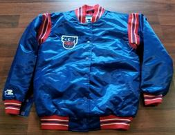 Starter Jacket Glll by Carl Banks Brooklyn New Jersey Nets L