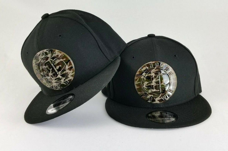 black brooklyn nets metal army camouflage logo