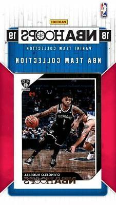 Brooklyn Nets 2018 2019 Hoops Factory 11 Card Team Set Russe