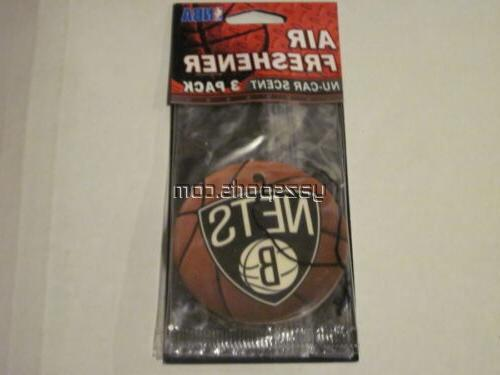 brooklyn nets 3 pack air freshener
