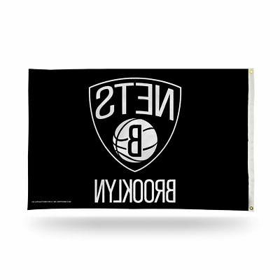 brooklyn nets 3x5 nba banner flag