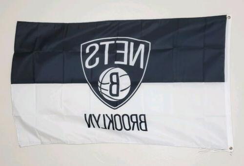 brooklyn nets banner 3x5 ft flag garage