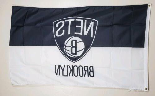 brooklyn nets basketball 3x5 flag banner man