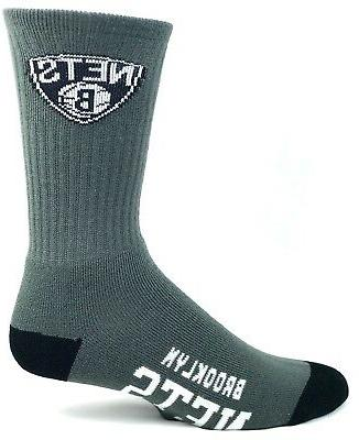 brooklyn nets basketball adult deuce crew socks