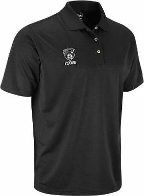 brooklyn nets black climalite mens polo shirt