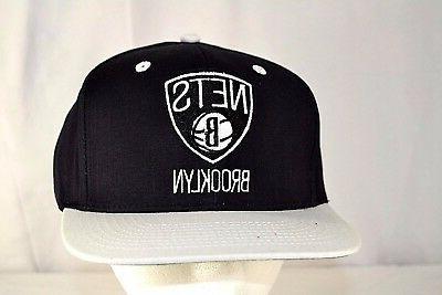 brooklyn nets black white baseball cap snapback