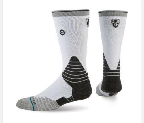 brooklyn nets core crew socks men s