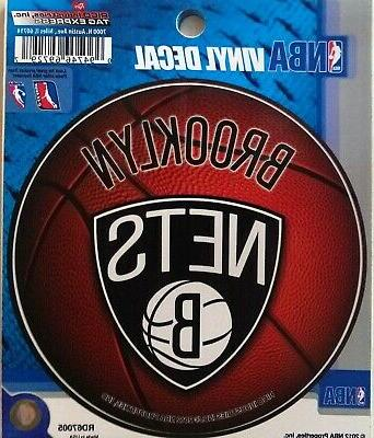 brooklyn nets decal 4 round auto home