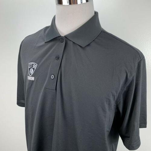 Adidas Nets Color Logo Polo Black MSRP $50