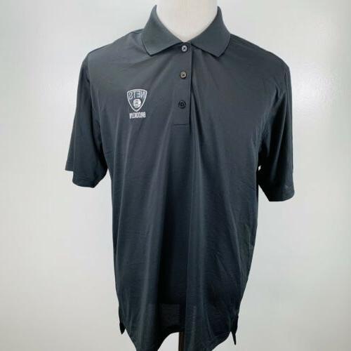 Adidas Brooklyn Nets Color Logo Polo - Black MSRP $50