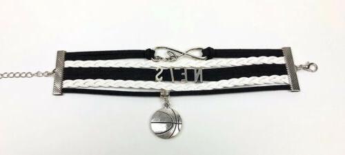 Brooklyn Nets Infinity Jewelry Bracelet NBA Faux Leather