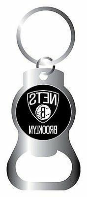 Brooklyn Nets Keychain & Keyring - Bottle Opener