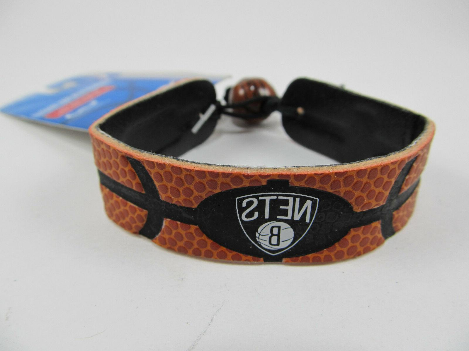 brooklyn nets leather bracelet officially licensed nba