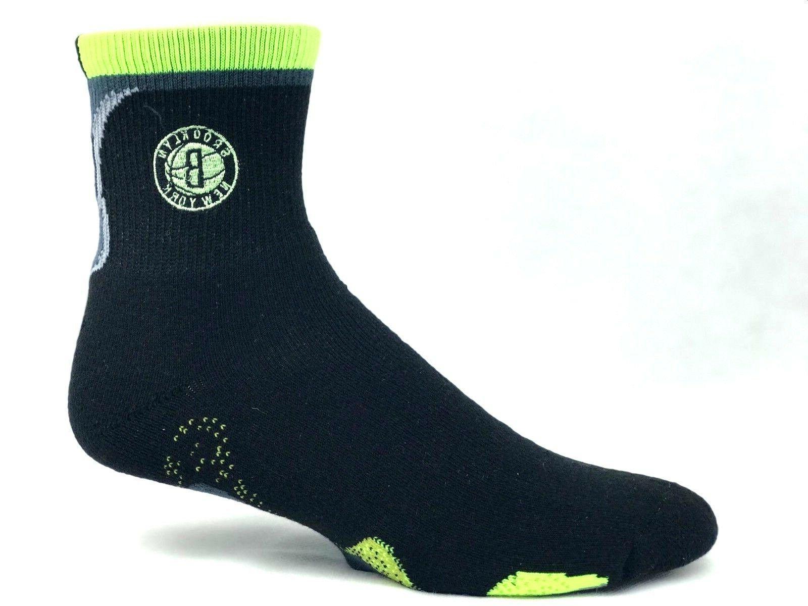 brooklyn nets men s black quarter socks