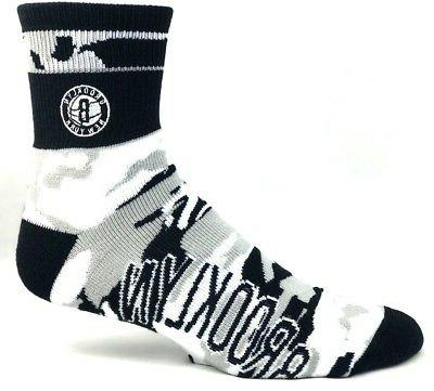 brooklyn nets men s quarter socks camo