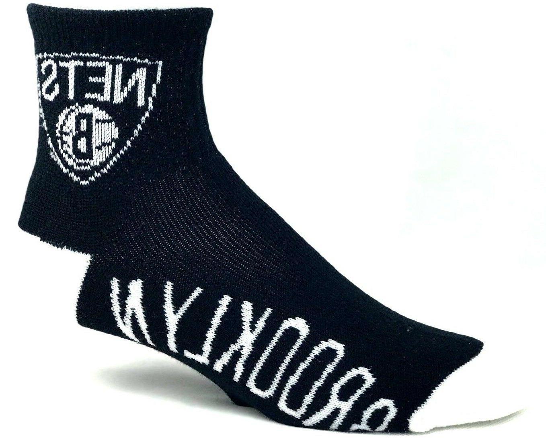 brooklyn nets men s quarter socks deuce