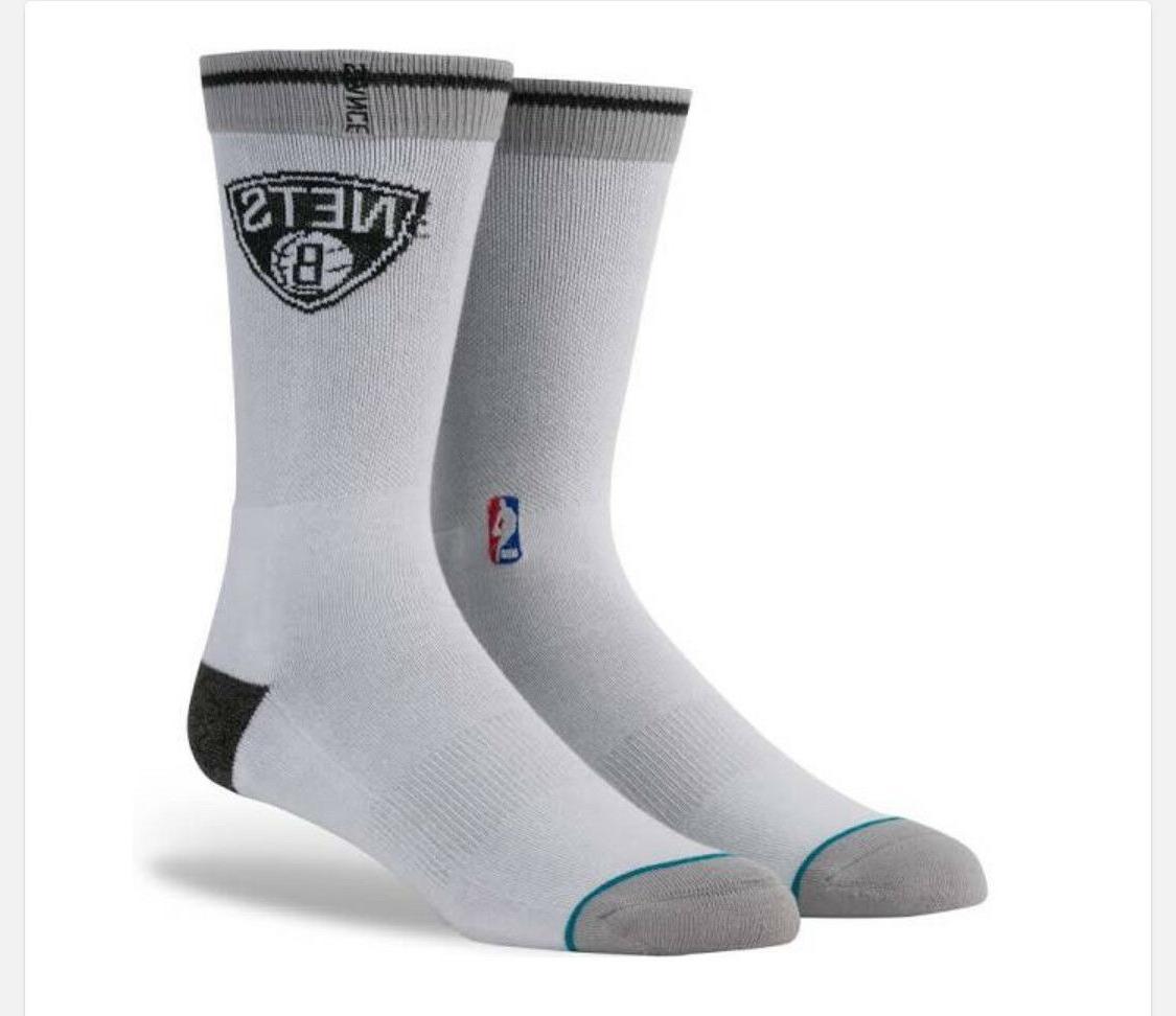 brooklyn nets mens casual crew socks new