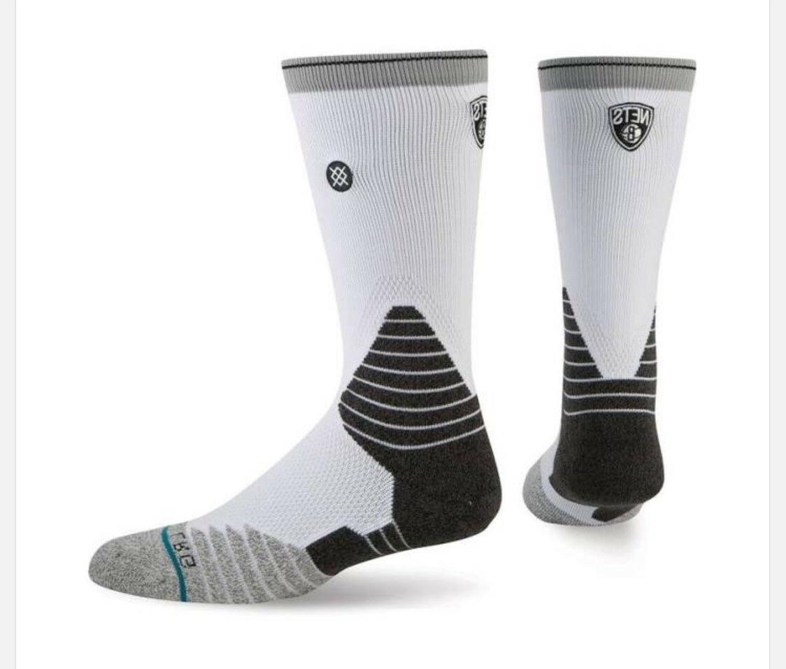 brooklyn nets mens core crew socks new