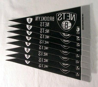 brooklyn nets nba 4x9 mini pennant banner