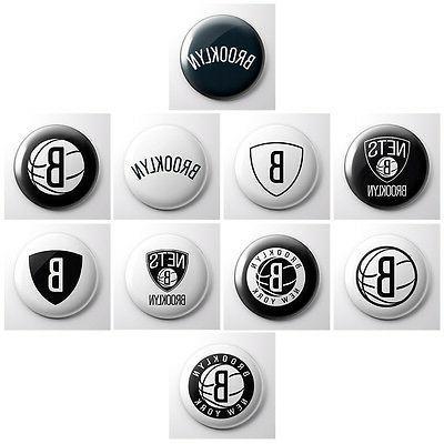 brooklyn nets nba basketball pinback buttons new