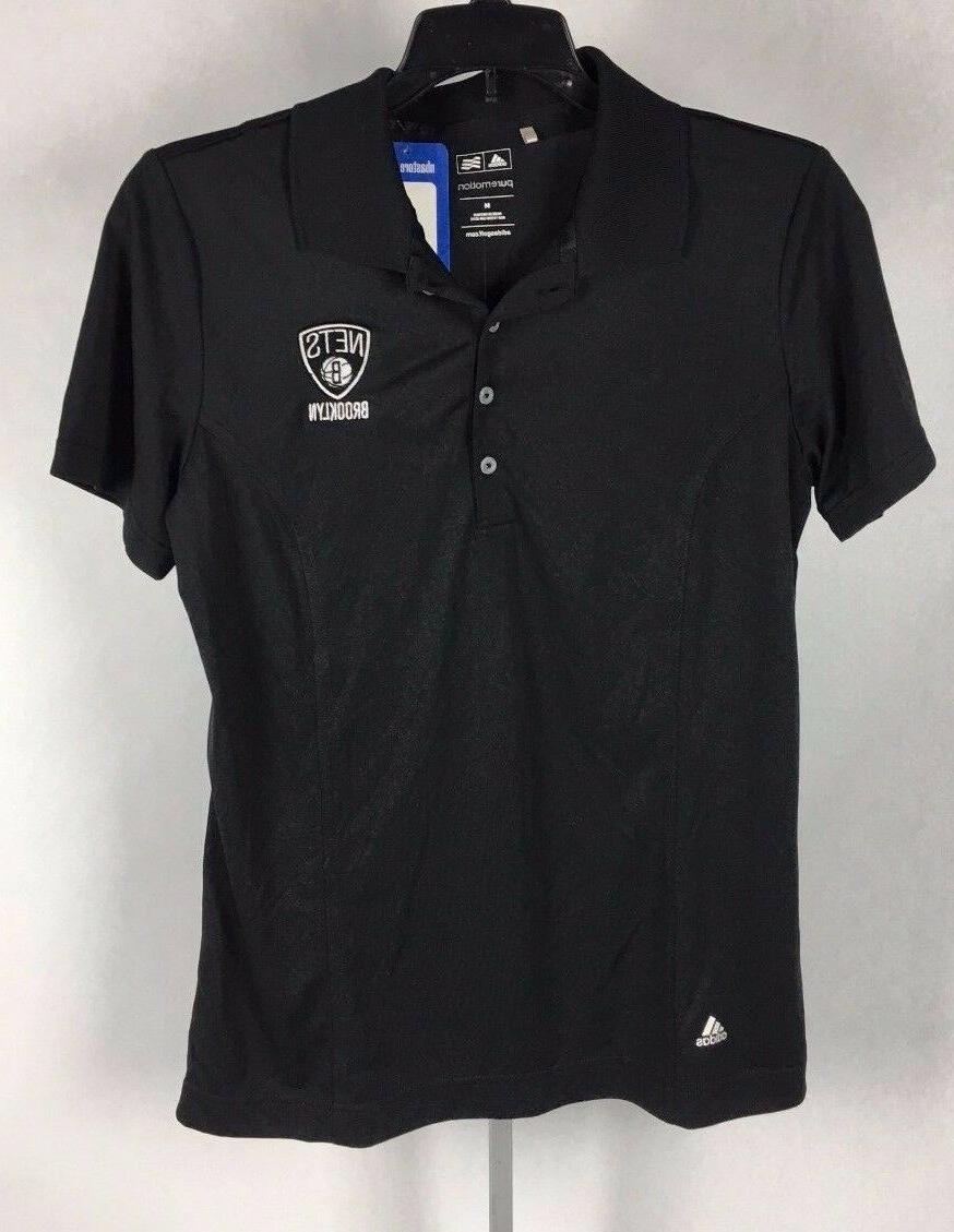 brooklyn nets womens shirt puremotion polo black