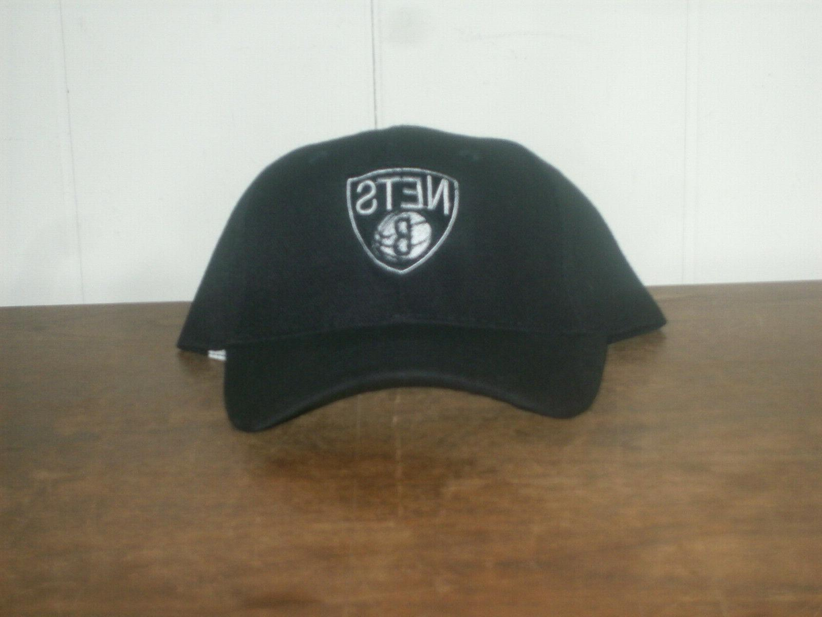 nba brooklyn nets adjustable black baseball hat