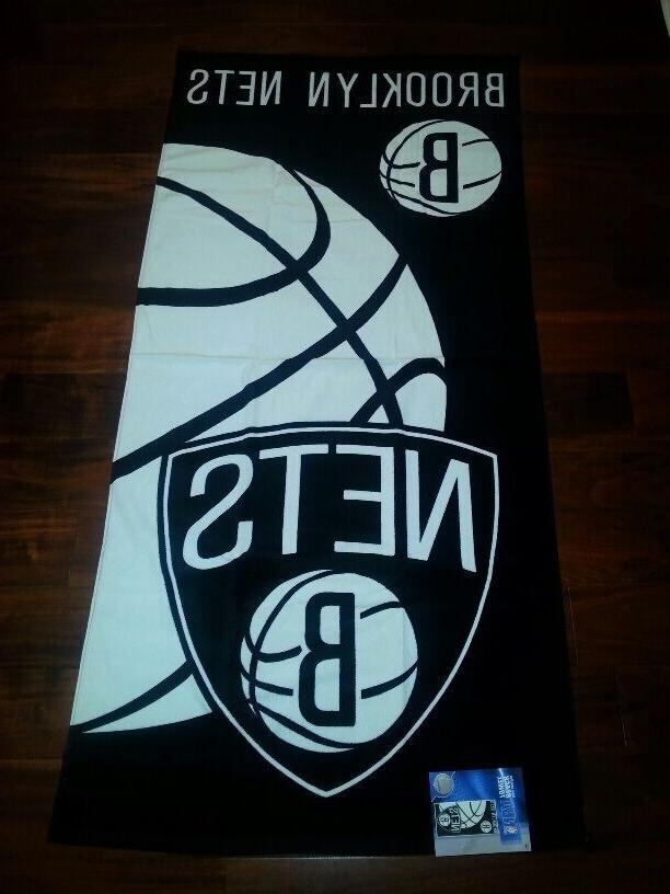 nba brooklyn nets beach towel 28 x