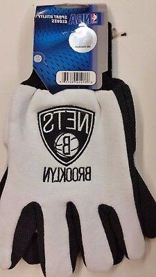 NBA Brooklyn Nets Sport Utility Gloves, NEW
