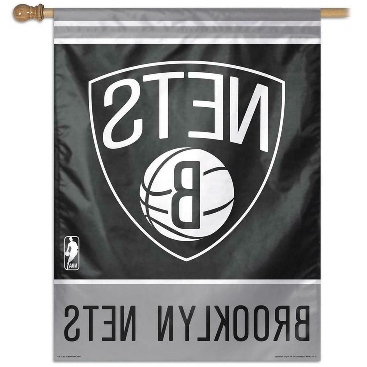 nba brooklyn nets vertical flag 27 x