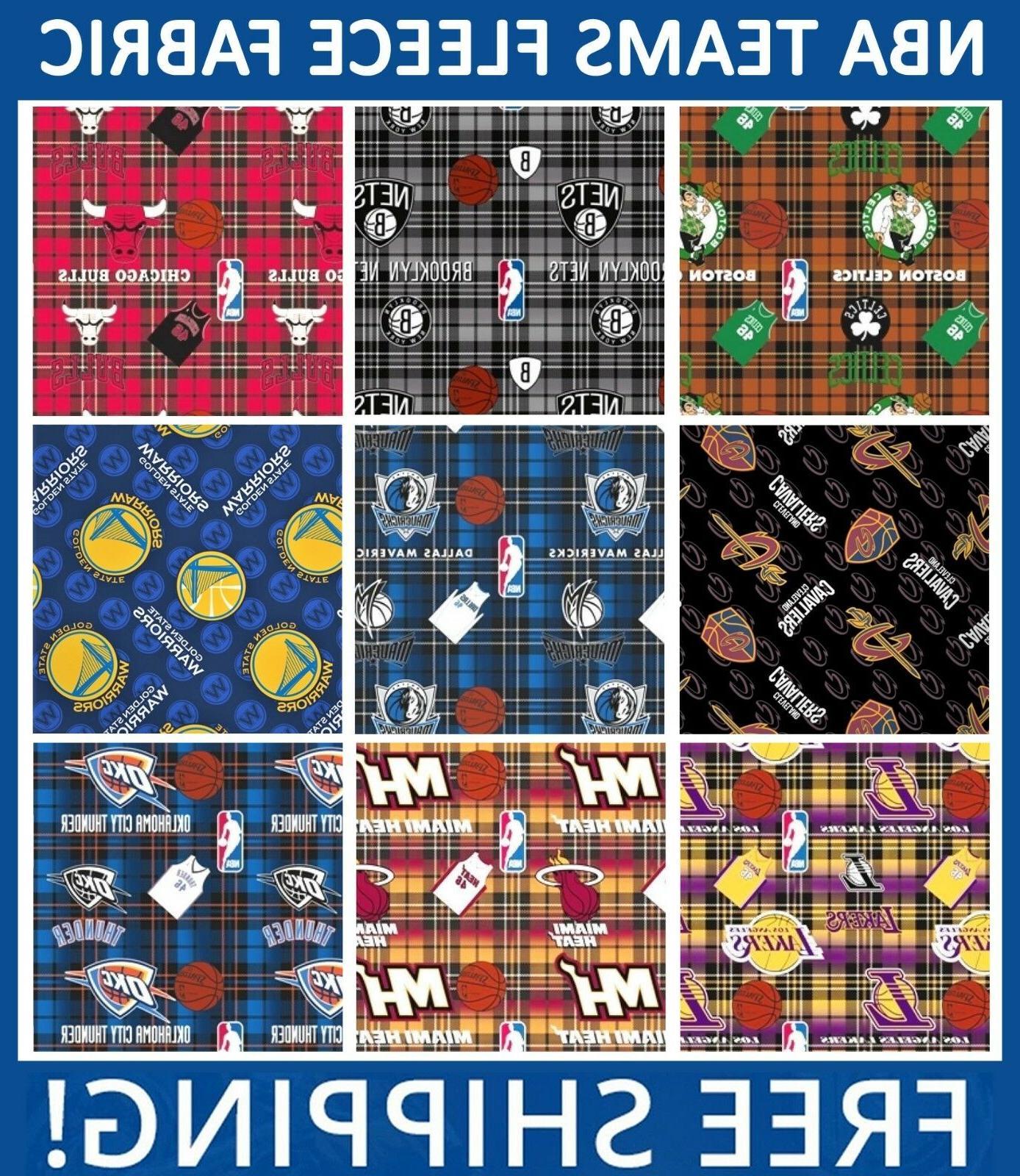 nba fleece fabric all teams sports collection
