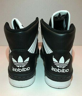 Adidas Rivalry Nets Black White 9.5