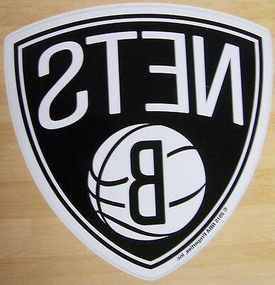 window bumper sticker nba basketball brooklyn nets