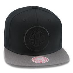 Mitchell & Ness Brooklyn Nets Snapback Hat Cap Black/Dark Gr